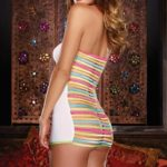 Dreamgirl Neon Elastic Strap Mini Dress with Thong