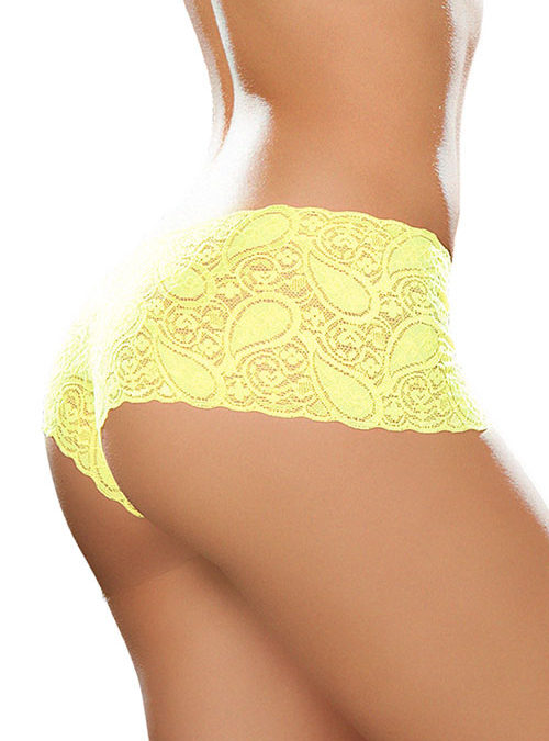 Mapale by Espiral Paisley Lace Boyshort