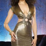 Dreamgirl Gold Rush Cut Out Club Dress