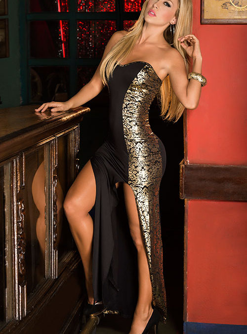 Mapale by Espiral Gold Filigree Gown