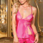 Shirley Of Hollywood Satin & Lace Cami with Shorts