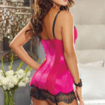 Dreamgirl Satin Chemise with G-String