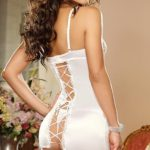 Dreamgirl Beautiful Bride Gartered Chemise with Thong