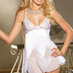 Shirley Of Hollywood Charmeuse with Lace Chemise & G-String