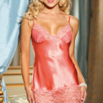 Shirley Of Hollywood Charmeuse Chemise with G-String
