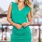 Mapale Swim & Beachwear Ruched Mini Dress