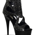 Pleaser  6″ Heel Cut Out Bootie with Rhinestones