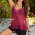 Mapale Swim & Beachwear Open Stitch Cami Top