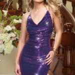 Dreamgirl Sequin Halter Club Mini Dress
