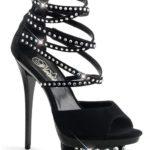 Pleaser 6″ Heel Strappy Rhinestone Embellished Sandal