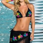 Mapale Swim & Beachwear Embroidered Bikini with Sarong