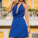 Mapale Swim & Beachwear Cowl Neck Beach Mini Dress