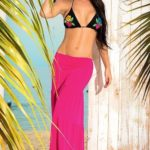 Mapale Swim & Beachwear Pleated Maxi Skirt