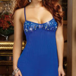 Dreamgirl Sapphire Babydoll with Thong