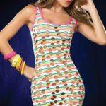 Mapale by Espiral Ravishing Colourful Mini Dress
