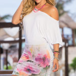 Mapale Swim & Beachwear Floral Graphic Rouched Dress
