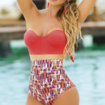 Mapale Swim & Beachwear Coral Print Swimsuit