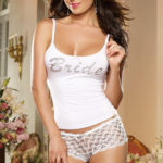 Dreamgirl Boyshort & Tank inscribed with 'Bride'