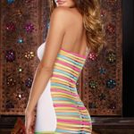Dreamgirl Neon Strap Bodystocking
