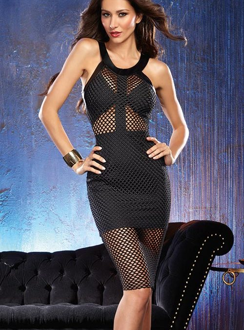 Dreamgirl Black Bodycon Dress