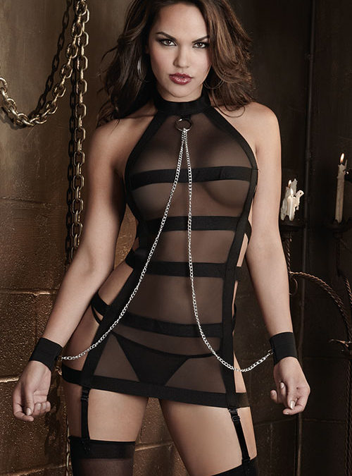 Dreamgirl Chemise with G-String & Restraints
