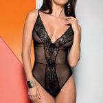 Dreamgirl Wild Print Chemise with G-String