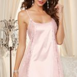 Dreamgirl Charmeuse with Lace Babydoll