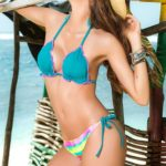 Mapale Swim & Beachwear 2 Pce Ruched Bottom Bikini Set