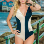 Mapale Swim & Beachwear One Piece Nautical Inspired Swimsuit
