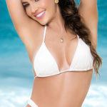 Mapale Swim & Beachwear Classic White Triangle Bikini Top