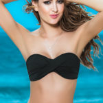 Mapale Swim & Beachwear Bandeau Top with Removable Halter Strap
