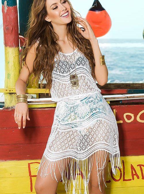 Mapale Swim & Beachwear Boho Chic Crochet Look Cover Up