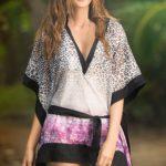 Mapale Swim & Beachwear Sassy Leopard Print & Purple Kimono