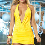 Mapale by Espiral Halter Mini Dress